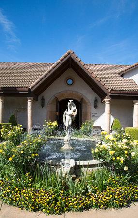 silverado: YOUNTVILLE, CA - APRIL 16  Villagio Inn and Spa in Yountville on April 16, 2014  Villagio Inn and Spa located in the Napa Valley on the beautiful 23-acre Vintage Estate in a lush garden setting