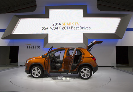 NEW YORK - APRIL 24  2015 Chevrolet Trax Car at the 2014 New York International Auto Show running from April 18-27 2014 in Jacob Javits Convention Center in New York