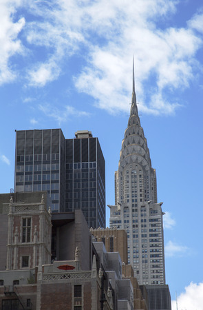 world's: NEW YORK - APRIL 27  Facade of the Crysler Building in the afternoon in bright sun on April 27, 2014 in New York  The Building was the world s tallest building for 11 months in 1931