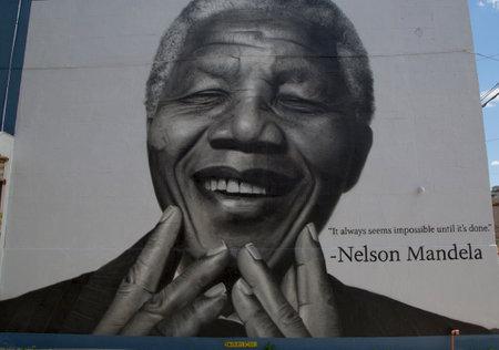 5 月 6 日 - ニューヨークでブルックリンのウィリアムズバーグでネルソン ・ マンデラ壁画 6、2014年ウィリアムズバーグは現在インディー ロック、ヒ