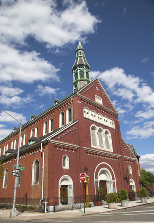 NEW YORK - MAY 6 Blessed Virgin Mary of the Annunciation Parish Church in Williamsburg section in Brooklyn on May 6, 2014