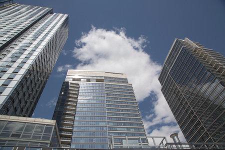 BROOKLYN, NEW YORK - MAY 1  Modern condominium buildings in Williamsburg neighborhood of Brooklyn on May 1, 2014
