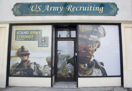 recruit: LYNBROOK, NY - FEBRUARY 6  U S  Army Recruiting Station in Lynbrook on February 6, 2014  it has mission is to recruit the enlisted, non commissioned and officer candidates for service in the US Army