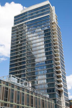 BROOKLYN, NEW YORK - MAY 1  Modern condominium building in Williamsburg neighborhood of Brooklyn on May 1, 2014