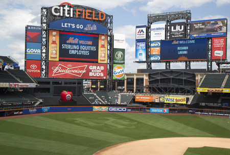 FLUSHING, NY - MAY 18  Citi Field, home of major league baseball team the New York Mets on May 18, 2014  This stadium  was opened in 2009 in Flushing, NY