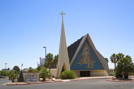 revere: LAS VEGAS, NEVADA - MAY 12  Guardian Angel Cathedral on May 12, 2014 in Las Vegas  The architect for the modernist basilica-style church was Los Angeles architect Paul Revere Williams Editorial