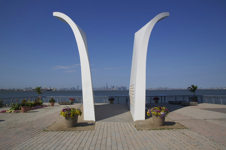 the strongest: NEW YORK - JUNE 24  Postcards 9 11 memorial in Staten Island on June 24, 2014  Built in 2004, it is a permanent memorial honoring the 274 Staten Island residents killed in the September 11 attack