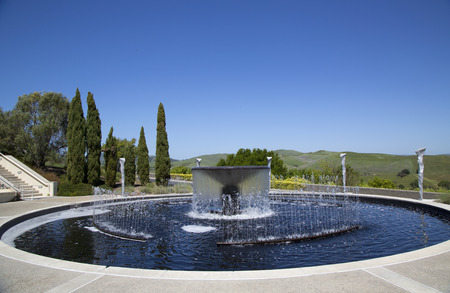 silverado: NAPA VALLEY, CA - APRIL 13  Artesa Winery in Napa Valley on April 13, 2014  Built into an hilltop within the Carneros Appellation near town of Napa, Artesa winery features sculptures by Gordon Huether