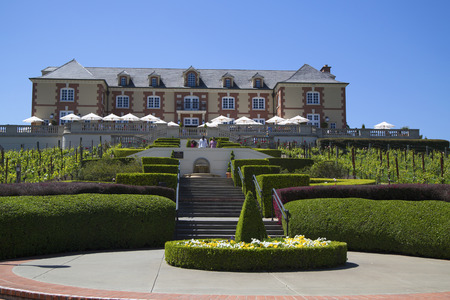 silverado: NAPA VALLEY, CA - APRIL 13  Domaine Carneros Winery in Napa Valley on April 13, 2014 Domaine Carneros is a singular winery best known as a small grower producer of methode champenoise sparkling wine