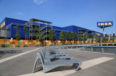 world's: BROOKLYN, NY - JULY 1  Brooklyn s IKEA superstore on July 1, 2014  Founded in Sweden in 1943, IKEA is the world s largest furniture retailer