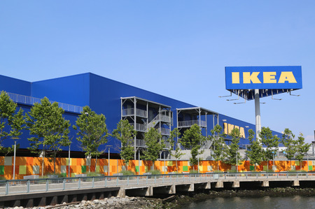 world   s largest: BROOKLYN, NY - JULY 1  Brooklyn s IKEA superstore on July 1, 2014  Founded in Sweden in 1943, IKEA is the world s largest furniture retailer