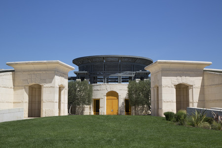 silverado: NAPA VALLEY, CA - APRIL 14  Opus One Winery in Napa Valley on April 14, 2014  In the 1990s, Opus One became the California cult wine to be widely sold in Asia and Europe  Editorial