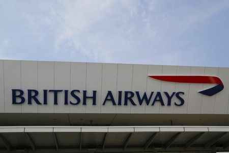 runways: NEW YORK- JULY 10  British Airways Terminal 7 at John F Kennedy International Airport in New York on July 10, 2014  JFK is one of the biggest  airports in the world with 4 runways and 8 terminals