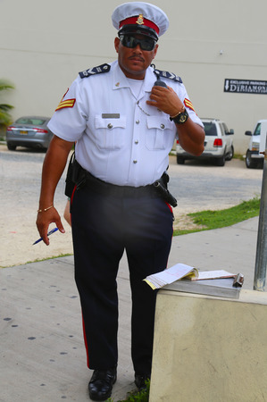 constable: GEORGE TOWN, GRAND CAYMAN - JUNE 12  Senior constable from Royal Cayman Islands Police Service in George Town on June 12, 2014
