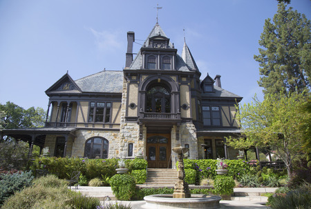 NAPA VALLEY, CA - APRIL 15  The historical Rhine House at Beringer Vineyards in Napa Valley on April 15, 2014  The Rhine House built in 1883 has been placed on National Register of Historic Places