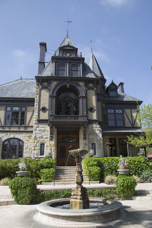 silverado: NAPA VALLEY, CA - APRIL 15  The historical Rhine House at Beringer Vineyards in Napa Valley on April 15, 2014  The Rhine House built in 1883 has been placed on National Register of Historic Places Editorial