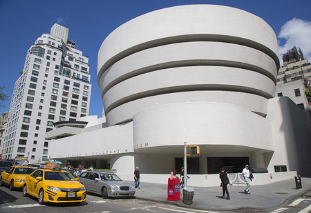 NEW YORK - JUNE 5  The Solomon R  Guggenheim Museum of modern and contemporary art in Manhattan on June 5, 2014  Designed by Frank Lloyd Wright museum opened on October 21,1959  Sajtókép