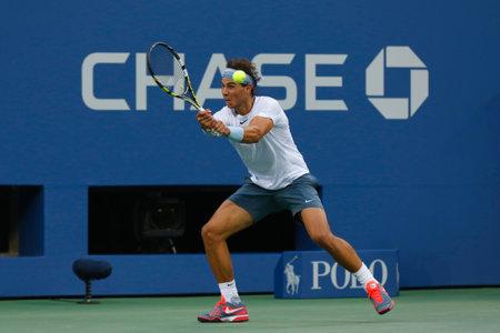nadal: NEW YORK- SEPTEMBER 7  Twelve times Grand Slam champion Rafael Nadal during semifinal match at US Open 2013 against Richard Gasquet at Arthur Ashe Stadium on September 7, 2013 in New York