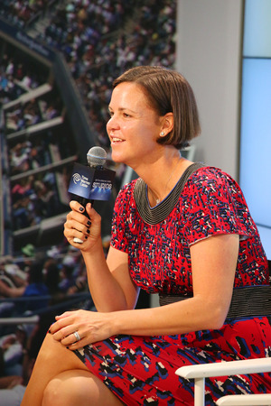 davenport: NEW YORK - AUGUST 30: Three times Grand Slam champion and Olympic Champion Lindsay Davenport during press conference at Billie Jean King National Tennis Center on August 30, 2014 in New York  Editorial