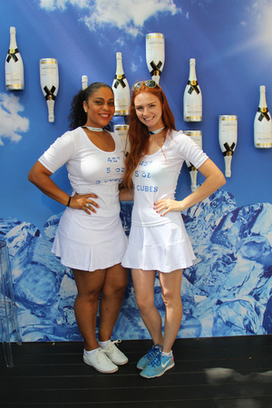 NEW YORK - AUGUST 25:Moet and Chandon champagne presented at the National Tennis Center during US Open 2014 on August 25,2014 in New York. Moet and Chandon is the official champagne of the US Open