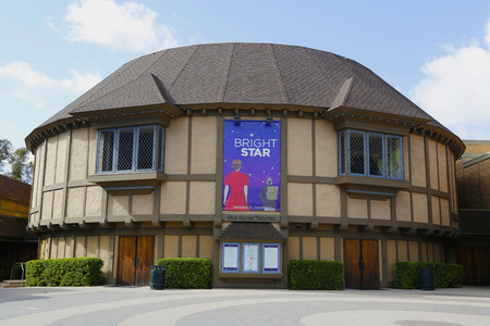 globe theatre: SAN DIEGO, CALIFORNIA - SEPTEMBER 28: Old Globe Theatre at Balboa Park in San Diego on September 28, 2014
