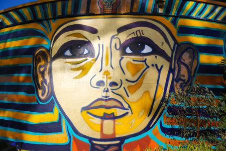SAN DIEGO, CALIFORNIA - SEPTEMBER 28: Mural art at Balboa Park in San Diego on September 28, 2014