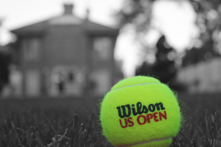 NEW YORK - OCTOBER 4: Wilson US Open tennis ball on October 4, 2014 in New York. Wilson is the Official Ball of the US Open since 1979