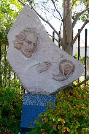 SAN DIEGO, CALIFORNIA - SEPTEMBER 28: William Shakespeare statue at Balboa Park in San Diego on September 28, 2014