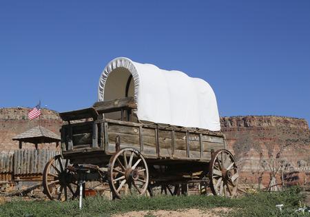 西部ワゴン 写真素材