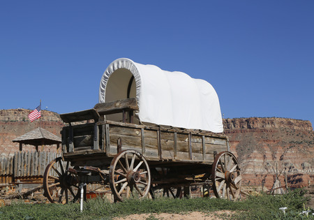 ghost town: Western wagon