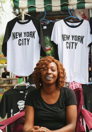 NEW YORK - SEPTEMBER 8: Street vendor near Central Park on 59th Street on September 8, 2014 in Manhattan