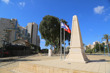 the next life: BEER SHEBA, ISRAEL -NOVEMBER 28:The Turkish Soldiers monument in honor the 298 Turkish soldiers that lost their life during the Battle of Beersheba next to Turkish Railway Station on November 28, 2014