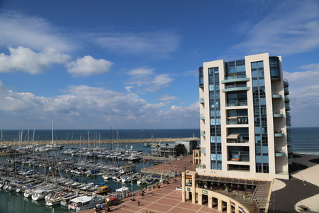 HERZLIYA, ISRAEL - NOVEMBER 25: The Ritz-Carlton Herzliya in Herzliya Marina on November 25, 2014. Ritz-Carlton operates 84 luxury hotels and resorts in major cities and resorts in 26 countries