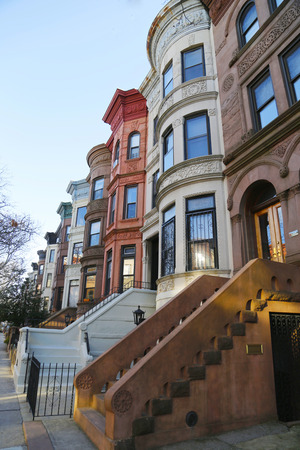 prospect: Famous New York City brownstones in Prospect Heights neighborhood in Brooklyn Editorial