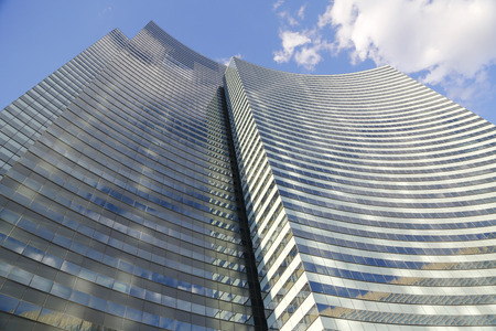 best travel destinations: LAS VEGAS, NEVADA - SEPTEMBER 25: Vdara Las Vegas Resort and Spa facade on September 25, 2014. Vdara Hotel and Spa is a 1,600,000 sq ft condo-hotel and spa located within the CityCenter complex