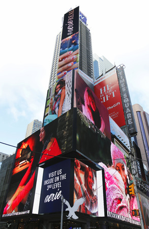 world's: NEW YORK - DECEMBER 18: Broadway signs in Manhattan on December 18, 2014. With over 40 prominent theater houses, Broadway theater is considered one of the world s highest levels of commercial theater
