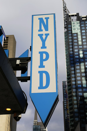 precinct: NEW YORK - DECEMBER 18 Sign at the famous NYPD Times Square Precinct in Midtown Manhattan on December 18, 2014 Editorial
