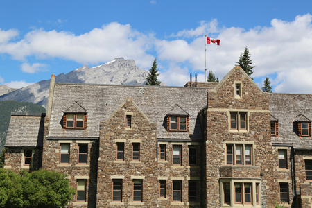 BANFF, CANADA - JULY 26: Parks Canada Administration in the Cascade Park in Banff on July 26, 2014