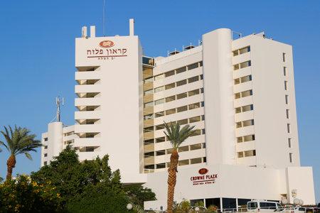 ein: DEAD SEA, EIN BOKEK, ISRAEL - NOVEMBER 28: Crowne Plaza Dead Sea Hotel  in Ein Bokek on November 28, 2014