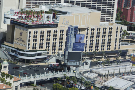 LAS VEGAS - SEPTEMBER 25 Aerial view Drai s Beach Club at The Cromwell Boutique Hotel and Casino in Las Vegas on September 25, 2014