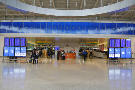 kennedy: NEW YORK- DECEMBER 30, 2014: JetBlue Terminal 5 at John F Kennedy International Airport in New York