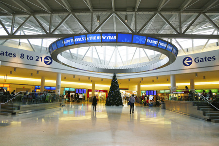 jetblue: NEW YORK- DECEMBER 30, 2014: JetBlue Terminal 5 at John F Kennedy International Airport in New York
