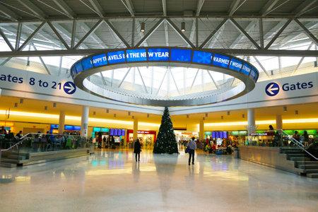jetblue: NEW YORK- DECEMBER 30, 2014: JetBlue Terminal 5 at John F Kennedy International Airport in New York