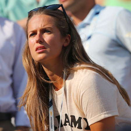 atp: NEW YORK - SEPTEMBER 1, 2014: Andy Murray s girlfriend Kim Sears at US Open 2014 at Billie Jean King National Tennis Center in New York Editorial