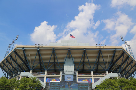atp: NEW YORK - SEPTEMBER 2, 2014 Arthur Ashe Stadium during US Open 2014 at Billie Jean King National Tennis Center in New York Editorial