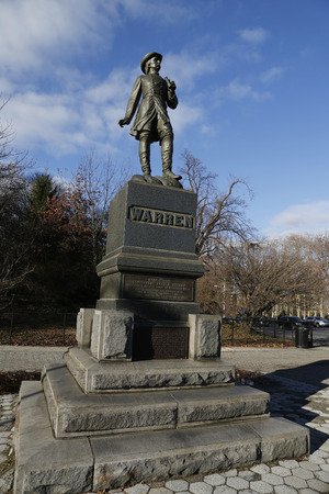 warren: BROOKLYN, NEW YORK - DECEMBER 14, 2014: Statue of Civil War General Gouverneur Kemble Warren in Brooklyn. He was a civil engineer and prominent general in the Union Army during the American Civil War