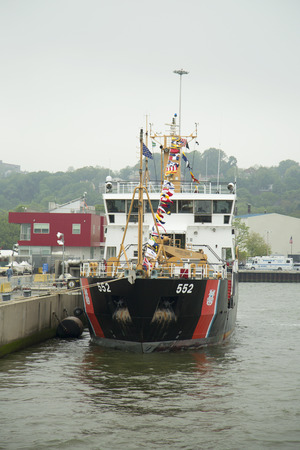 katherine: NEW YORK - MAY 22, 2014: US Coast Guard Cutter Katherine Walker of the United States Coast Guard during Fleet Week 2014 in New York Harbor Editorial