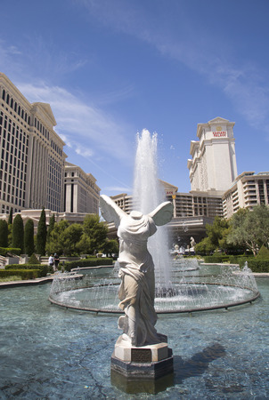 caesars palace: LAS VEGAS, NEVADA - MAY 9, 2014: Caesars Palace Las Vegas Hotel & Casino. Caesars Palace is a luxury hotel and casino located on the Las Vegas Strip with 3,960 rooms in six towers