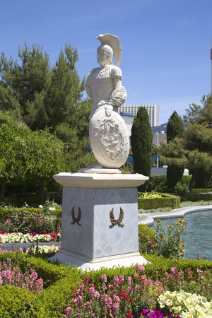 caesars palace: LAS VEGAS, NEVADA - MAY 9, 2014:Statue at  Caesars Palace Las Vegas Hotel & Casino. Caesars Palace is a luxury hotel and casino located on the Las Vegas Strip with 3,960 rooms in six towers Editorial