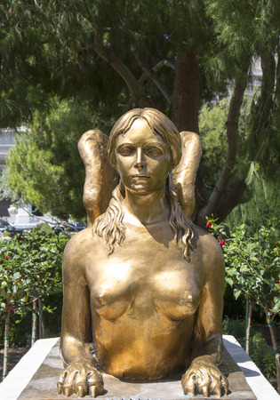 caesars palace: LAS VEGAS, NEVADA - MAY 9, 2014:Statue at Caesars Palace Las Vegas Hotel & Casino. Caesars Palace is a luxury hotel and casino located on the Las Vegas Strip with 3,960 rooms in six towers